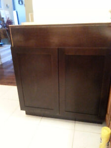 "30"" w Chocolate Shaker Style Doors Base Cabinet"