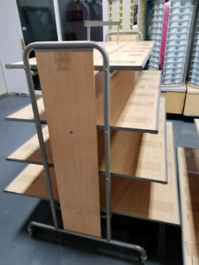 Multipurpose display table/rack/shelves