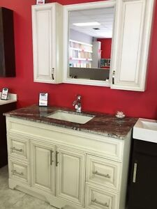 "48"" Vanity -VICTORIA SERIES - Quartz Countertop - Solid Wood London Ontario image 4"