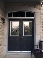 Half door glass insert