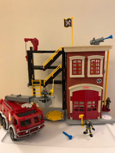 Fire Truck and Fire Station