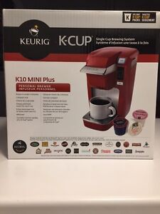 Keurig K10 mini plus brewing system RED *BRAND NEW IN BOX*