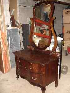 Antique Dresser with Swing Mirror Circa 1900. REDUCED PRICE