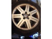 Volvo C30 S40 V50 alloy wheels with tyres - fit ford focus alloys