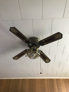 2 Ceiling Fans with Lights