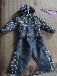2 piece Girls jacket and pants set, Size 18 months