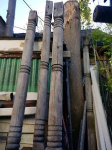 Decorative support posts - 4 available - 8' long