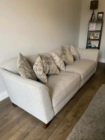 2 armchairs a d 4 seater sofa GREY