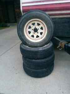 4 Trailer Tires and Rims for sale