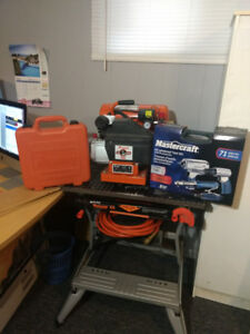 Paslode Air Compressor and Tools - Like New - Reduced price