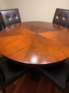 Beautiful Wood Dining Table Seats 4 from Pier1 includes chairs