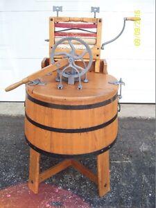 ANTIQUE ,LAVEUSE ET TORDEUR EN BOIS 1890 WOODEN WASHING MACHINE