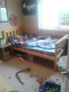 Kid's single captains bed with mattress and drawers