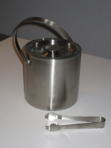 Insulated Double Walled Stainless Steel Ice Bucket-New Condition