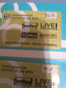 gift card confederation centre 4 arts Charlettown