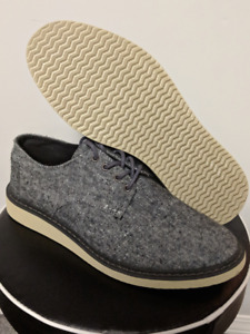 BRAND NEW TOMS Denim Blue Wingtip Casual Sneakers Men Shoes