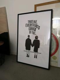 Big black frame from IKEA