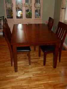 dining table with 4 chairs and bench (optional)-Ashley Furniture