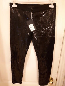 $20 Black sequin leggings NEVER WORN