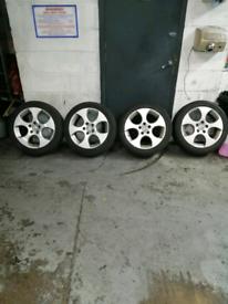 Genuine 17 inch mk5 golf gti alloy wheels 5x112
