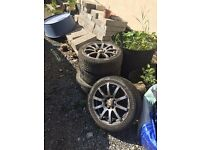 VW alloy wheels and tyres 195-45-15