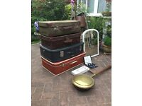 Vintage mirror, suitcases, spoons, coal scuttle etc from £10 as losted