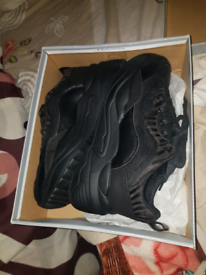 Ladies black shoes trainers