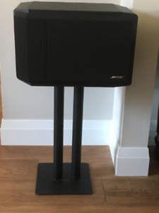 2 Bose 301 Bookshelf direct reflect speakers and stands