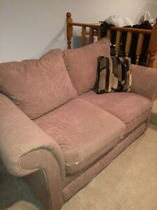 Microsuede Couch and Loveseat......Beige