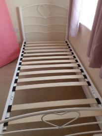 White Metal bed frame FREE
