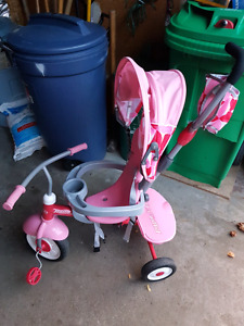 LIKE NEW PINK AND GREY TRIKE