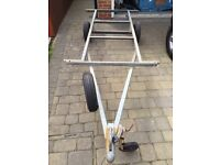 Fully galvanised boat or motorcycle trailer