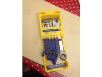 Good year combination ratchet wrench and spanner set.