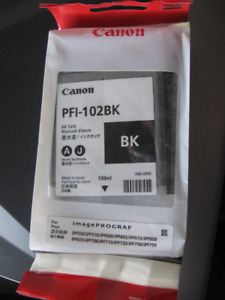 Canon PFI-102BK Ink Tank-new/sealed/never used