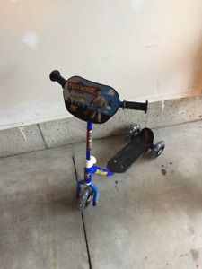 Scooter and Hot Wheels Bike for sale