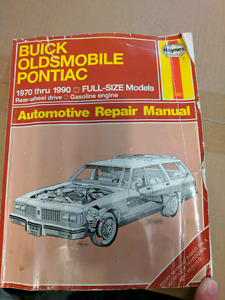 Haynes Buick/Oldsmobile/Pontiac 1970-1990 Full Size Manual