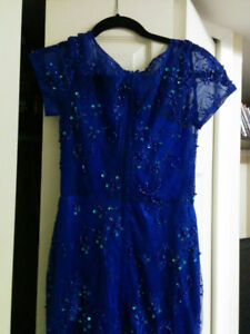 Beautiful Blue lace gown (further price drop)
