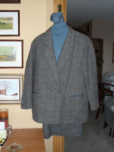 TWEED SUIT & HAND KNIT MATCHING SWEATER -- price reduced