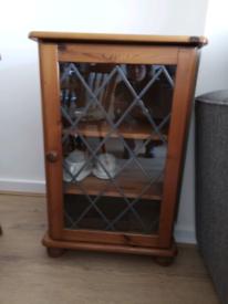 Pine display/storage cabinet