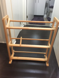 Wooden DVD and CD Rack