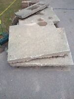3'X3' concrete stepping stones
