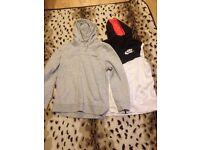 2 size 14 hoodies