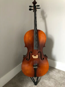 Great 3/4 size Cello, Case, Bow and Stand
