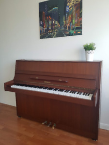 German-Manufactured Upright Piano - Excellent Condition