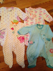 Infant girls sleepers