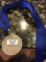 U11 baseball Medal Found on Mountain Road