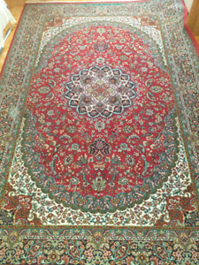 Red persian carpet for the living room $250