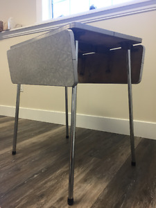 Drop Leaf Chrome Table