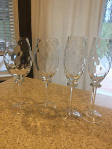 Stemware - crystal wine and champagne glasses