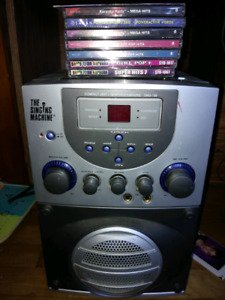 9 CDs and Karaoke Machine At Home The Singing Machine